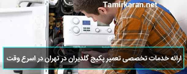خدمات تضمینی تعمیرات پکیج گلدیران در تهران